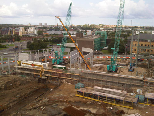 Trinity Square Shopping Centre development - RCDS - construction 2
